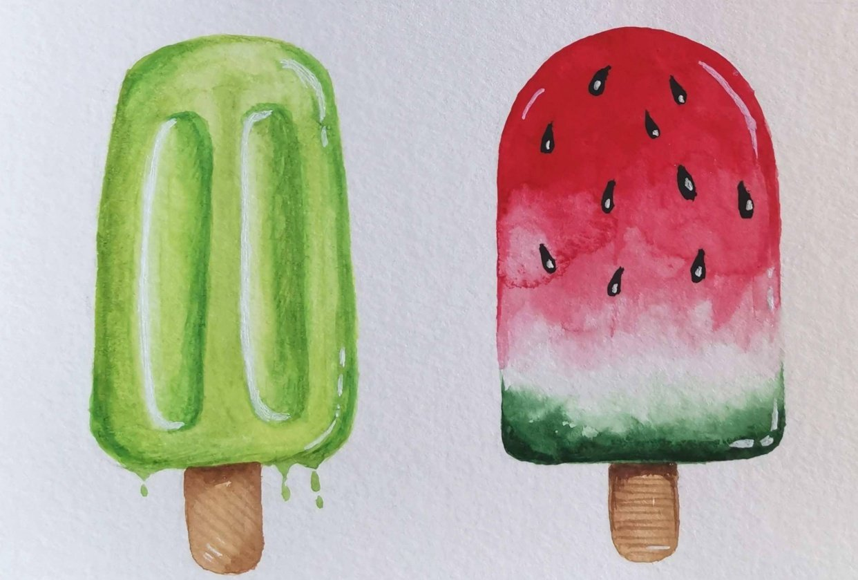 Ice lollies - student project