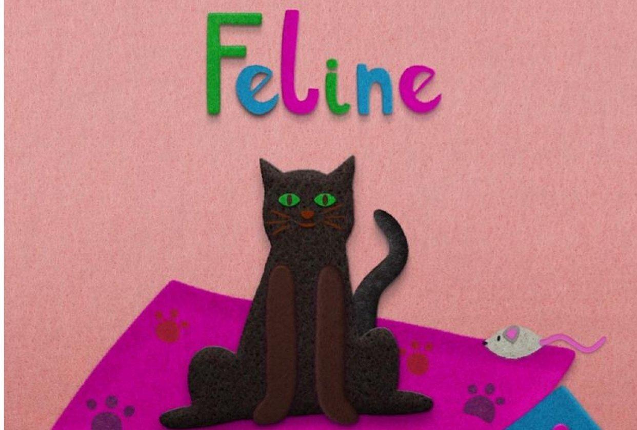 Feline Fine - Felt look tutorial - student project