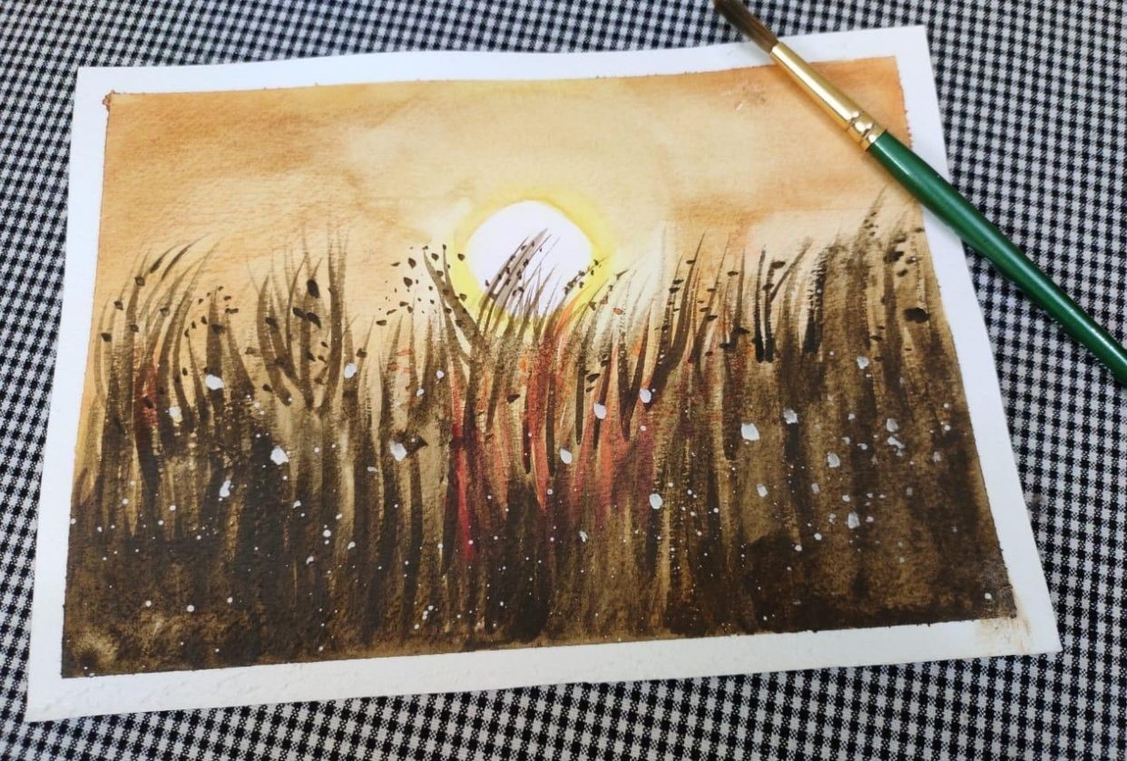 watercolour meadows - student project