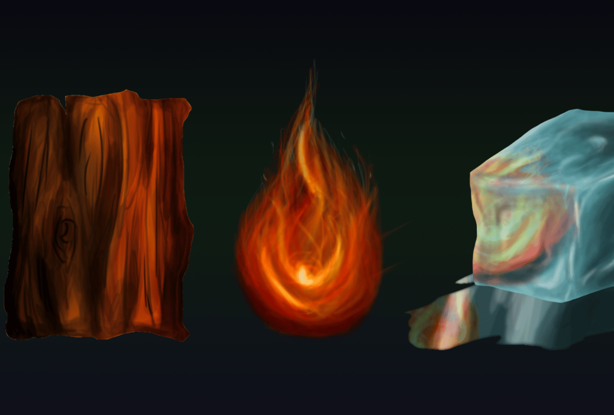 Wood, Fire and Ice - student project