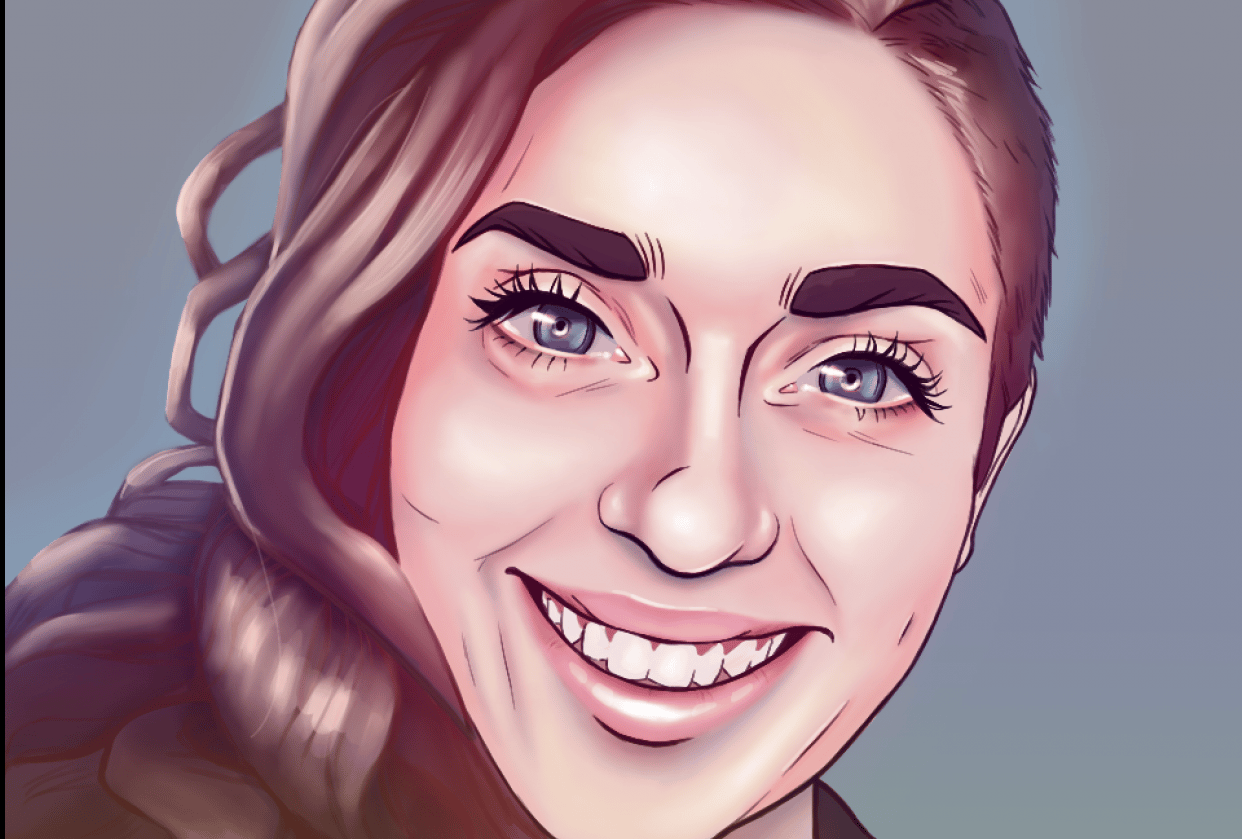 Stylised Portrait - student project