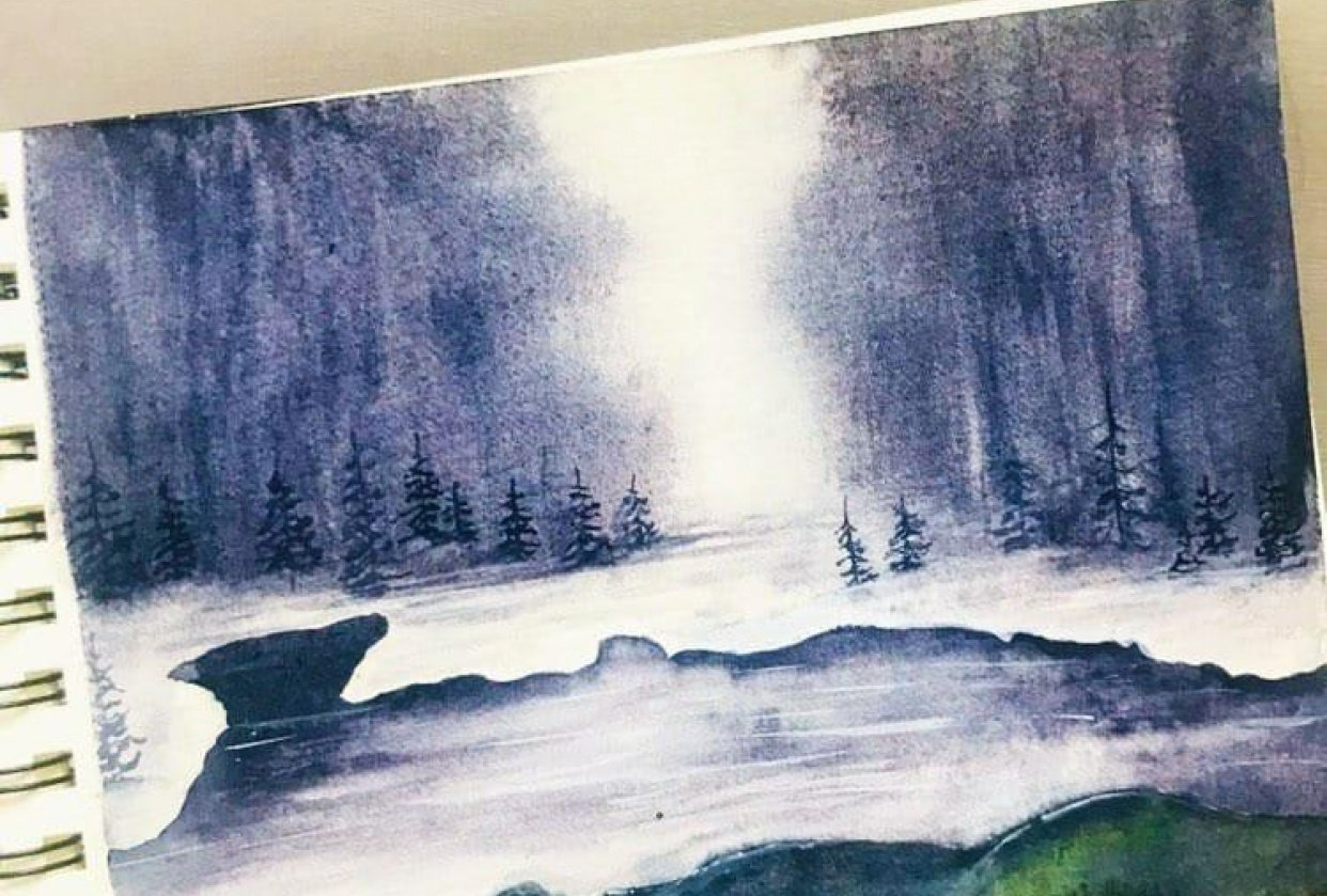 Moody landscape - student project