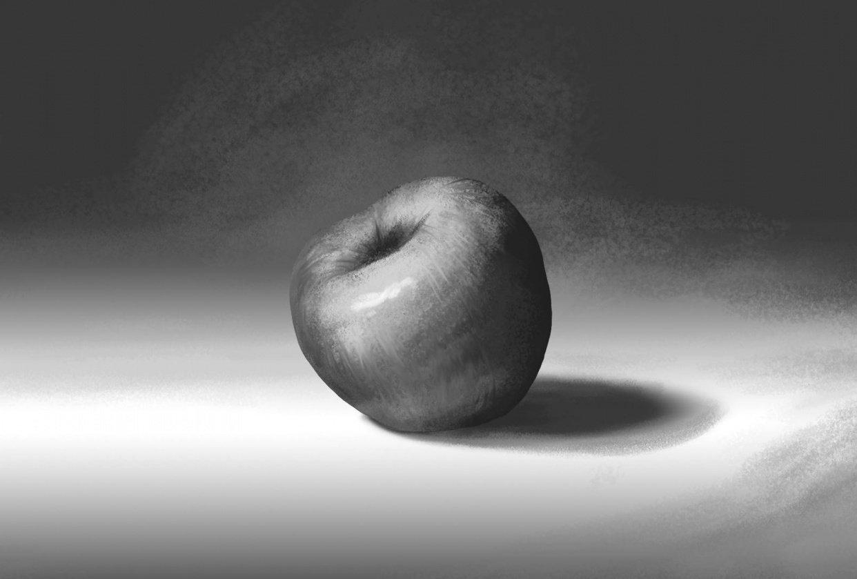 Art fundamentals - Apple - student project