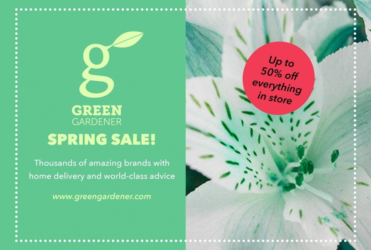 Green Gardener Flyer - student project