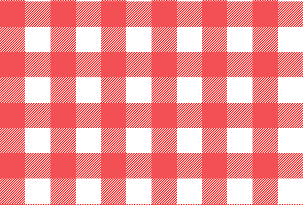 Red Tablecloth Pattern - student project