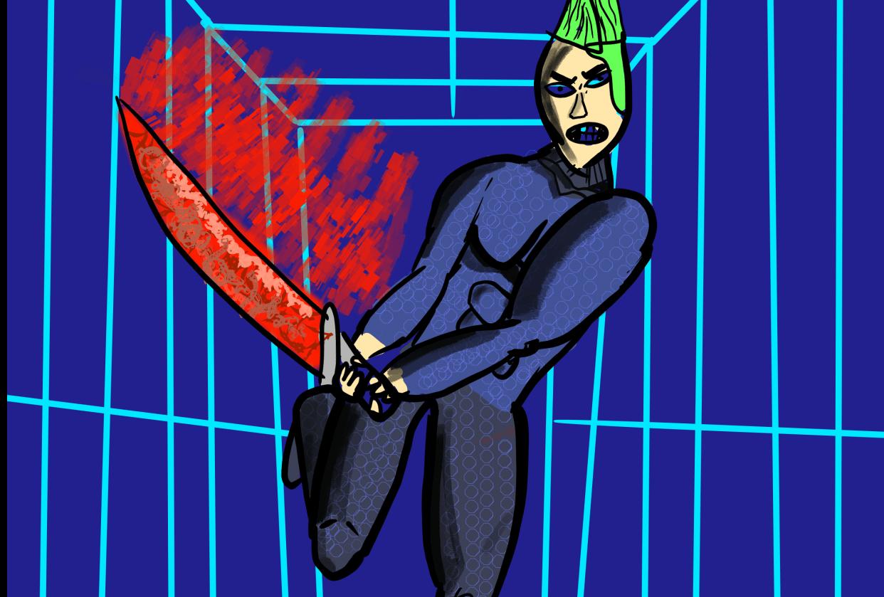 sci fi swordsman - student project