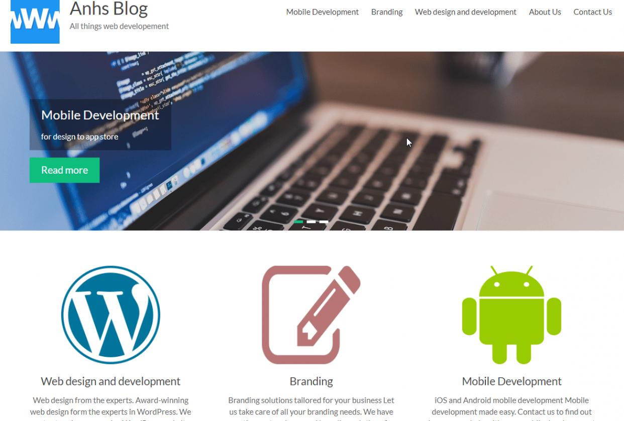Web dev blog - student project