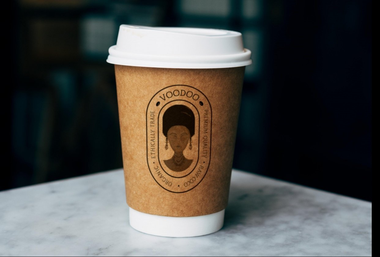 Circular logo - VOODOO - Cocoa Brand - student project