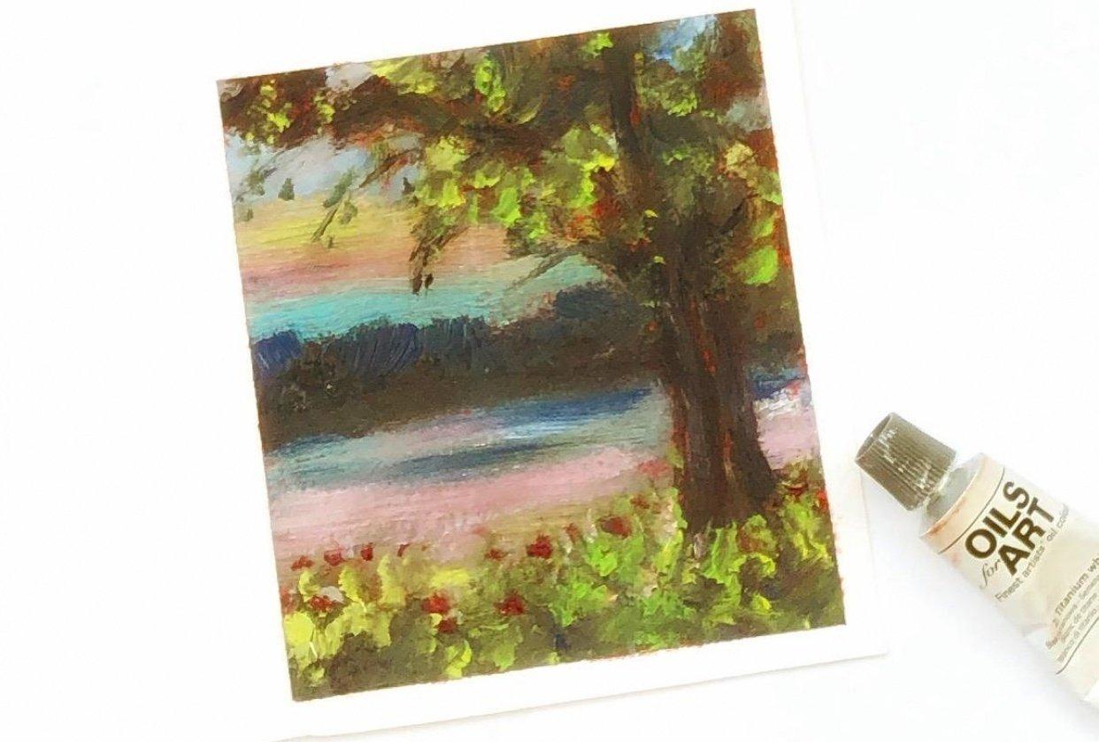 Impressionist landscape - student project