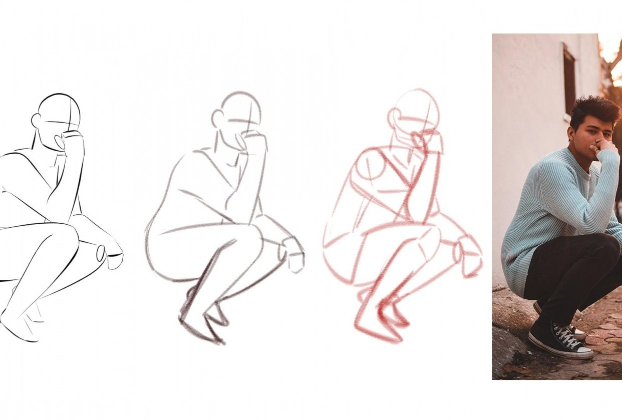 Sitting Pose! Figure Drawing - student project