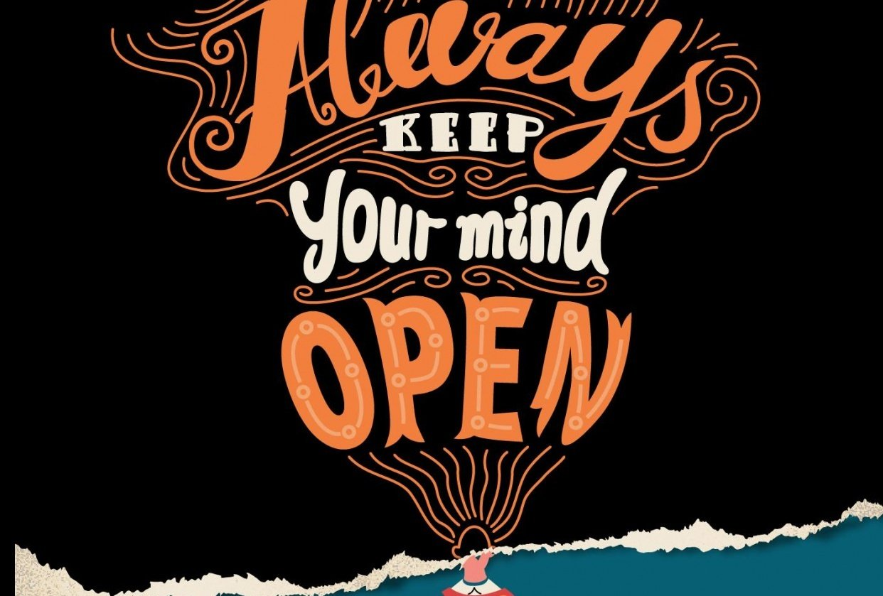 Keep your mind open- Lettering - student project