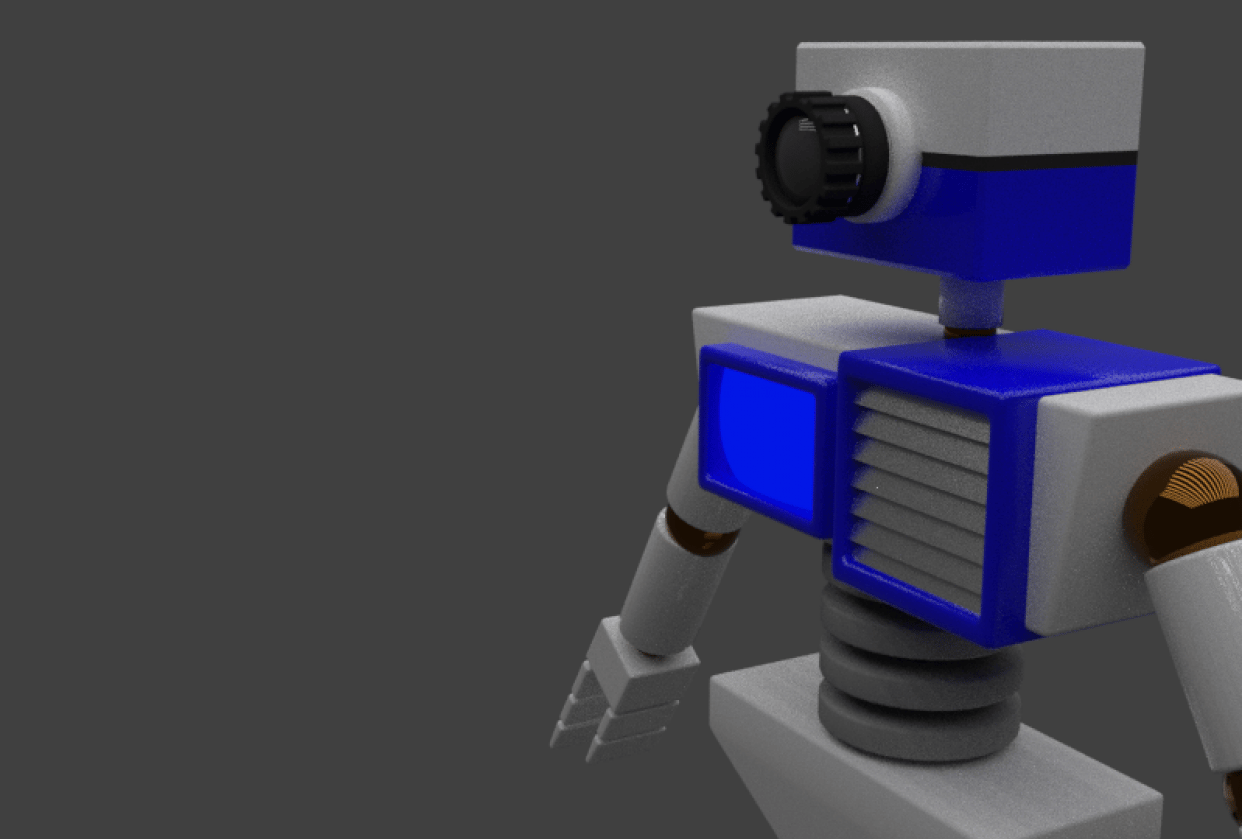 Robot Render - student project