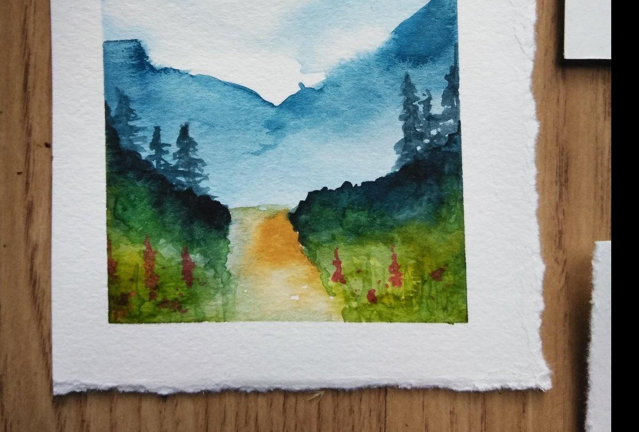 Landscape Watercolors - student project
