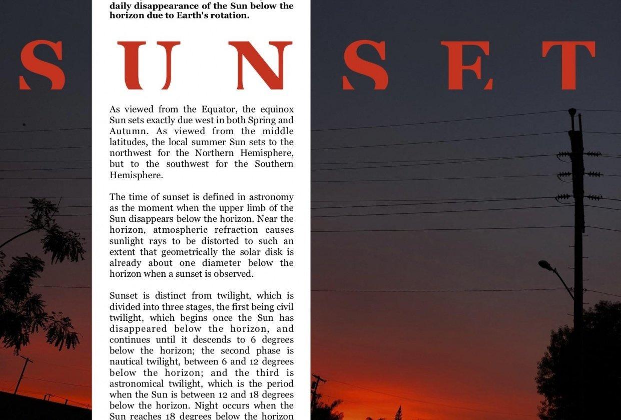 Sunset Magazine Page - student project