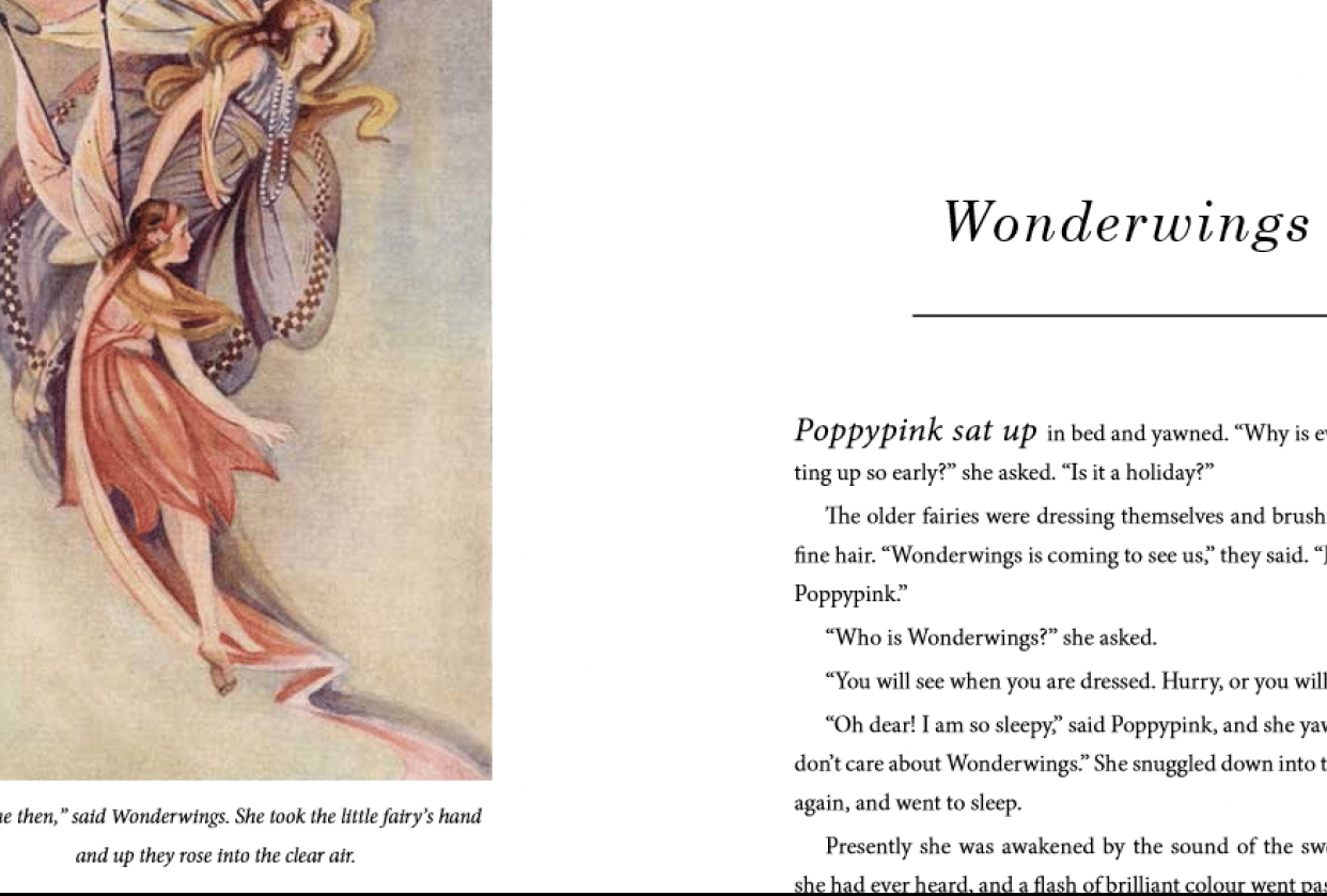 Wonderwings book design - student project