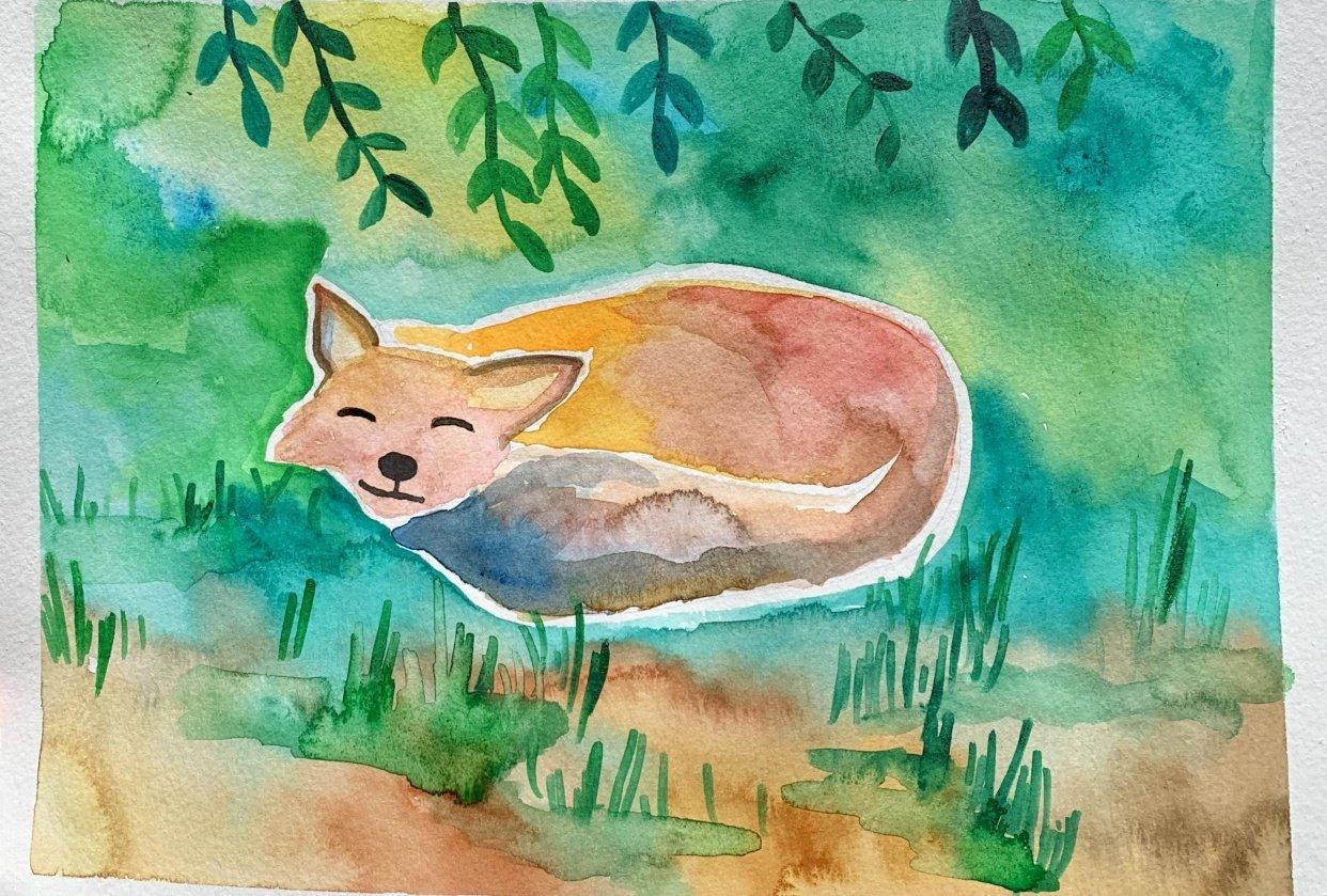 Sleepy Fox - student project