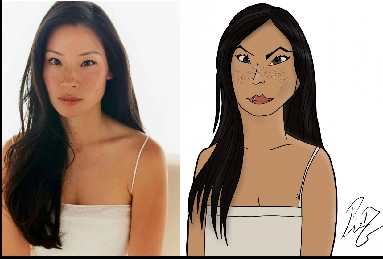 Caricature lucy liu - student project