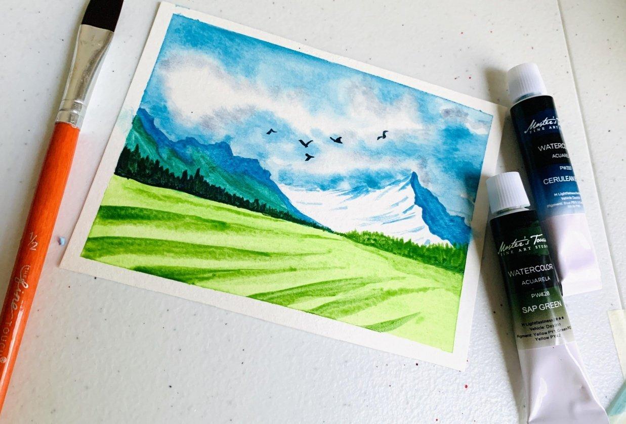 Water color landscape - student project