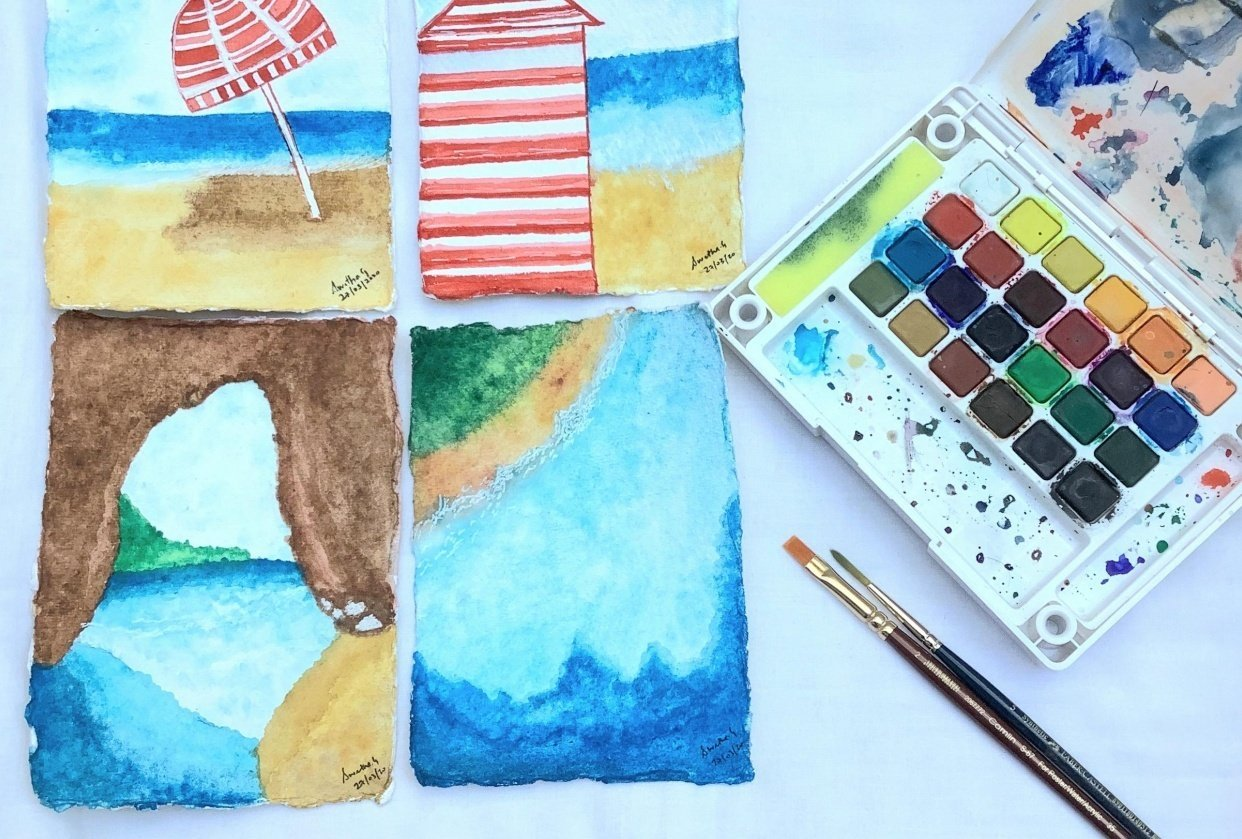 My take on the beach post cards - student project