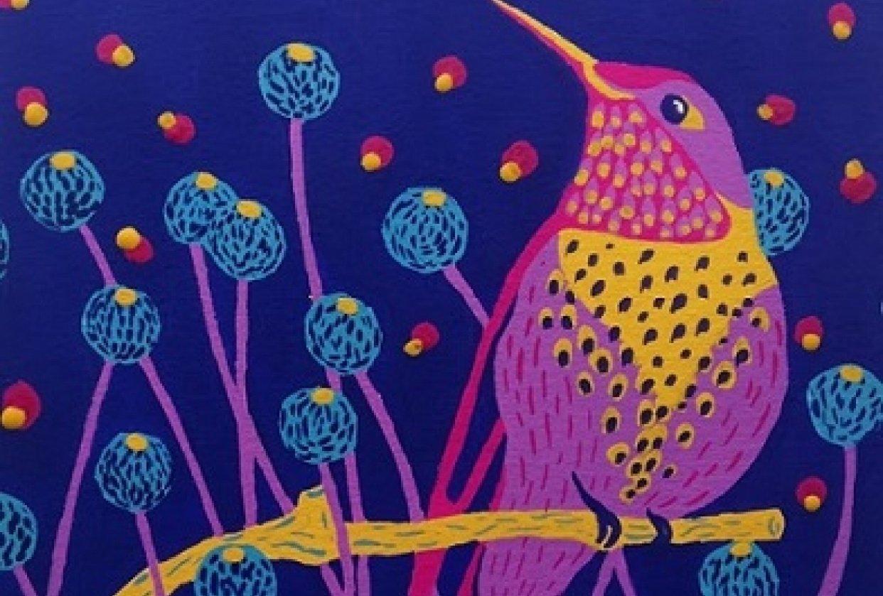 Bird in gouache - student project