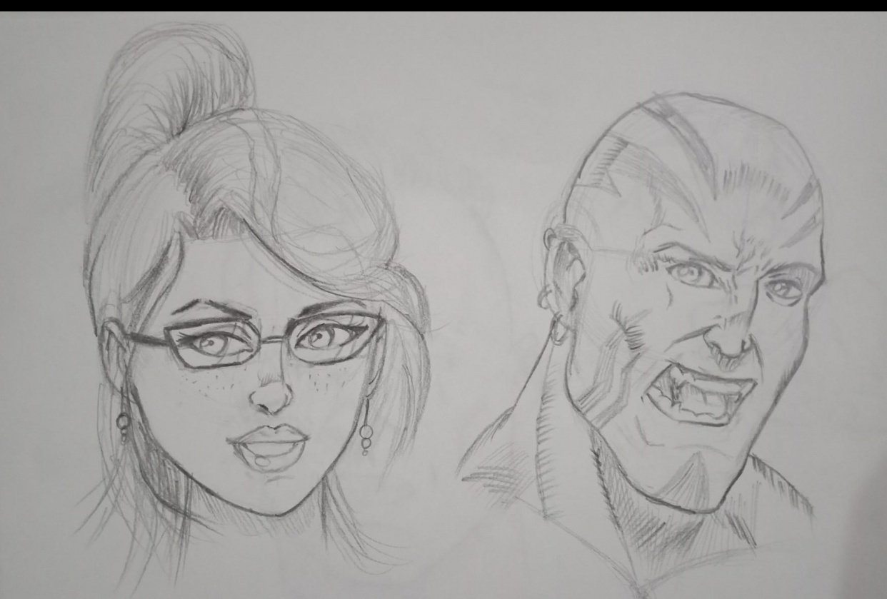 comic faces - student project