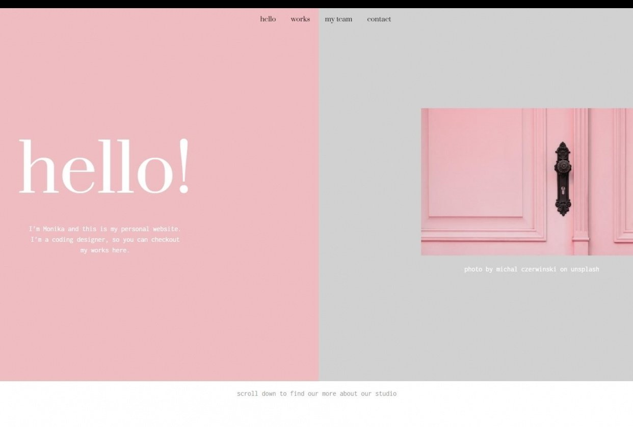pink&grey website - student project