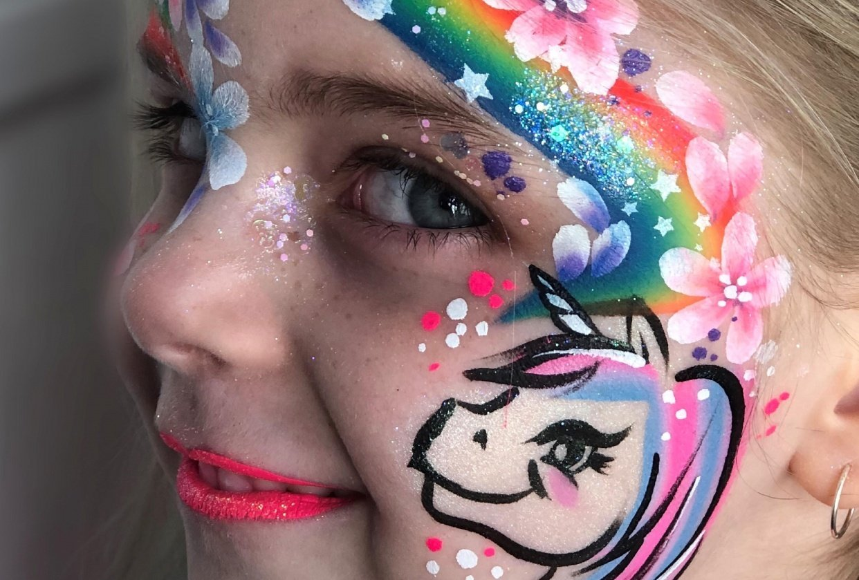 Not bad for a first try. #staysafe inspired rainbow face. - student project