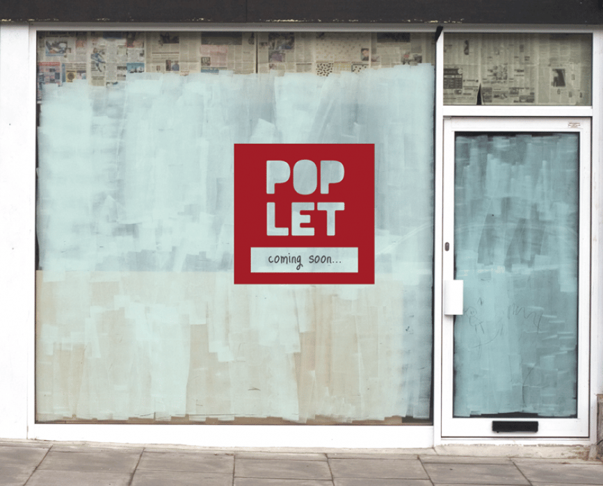 POPLET - a peer-to-peer platform where creative entrepreneurs find temporary commerical spaces for pop-up shops or events. - student project