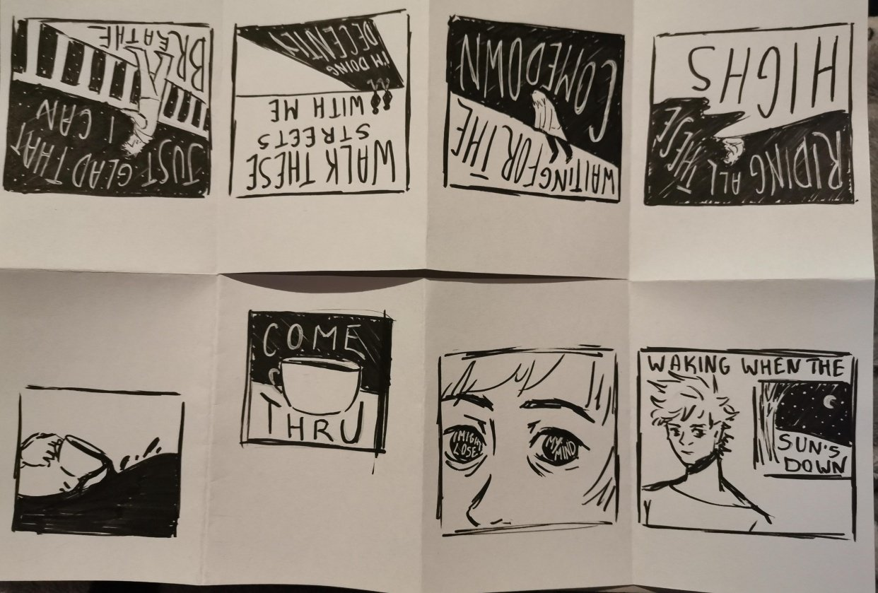 One-sheet zine - student project
