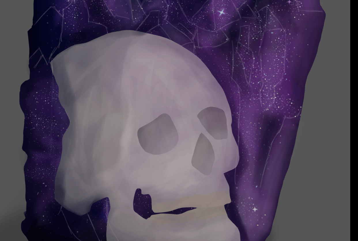 Skull Crystal - student project