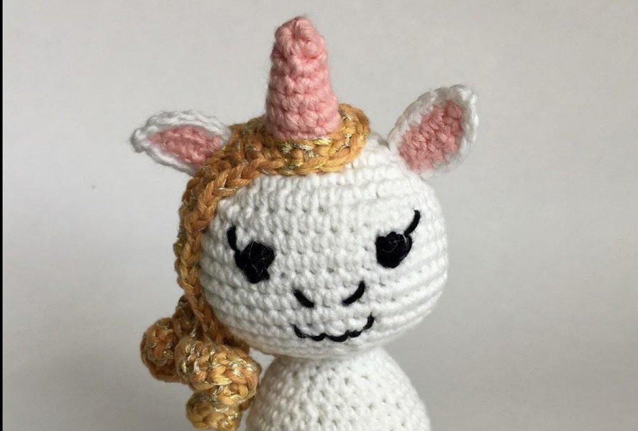 Unicorn - crocheting - student project