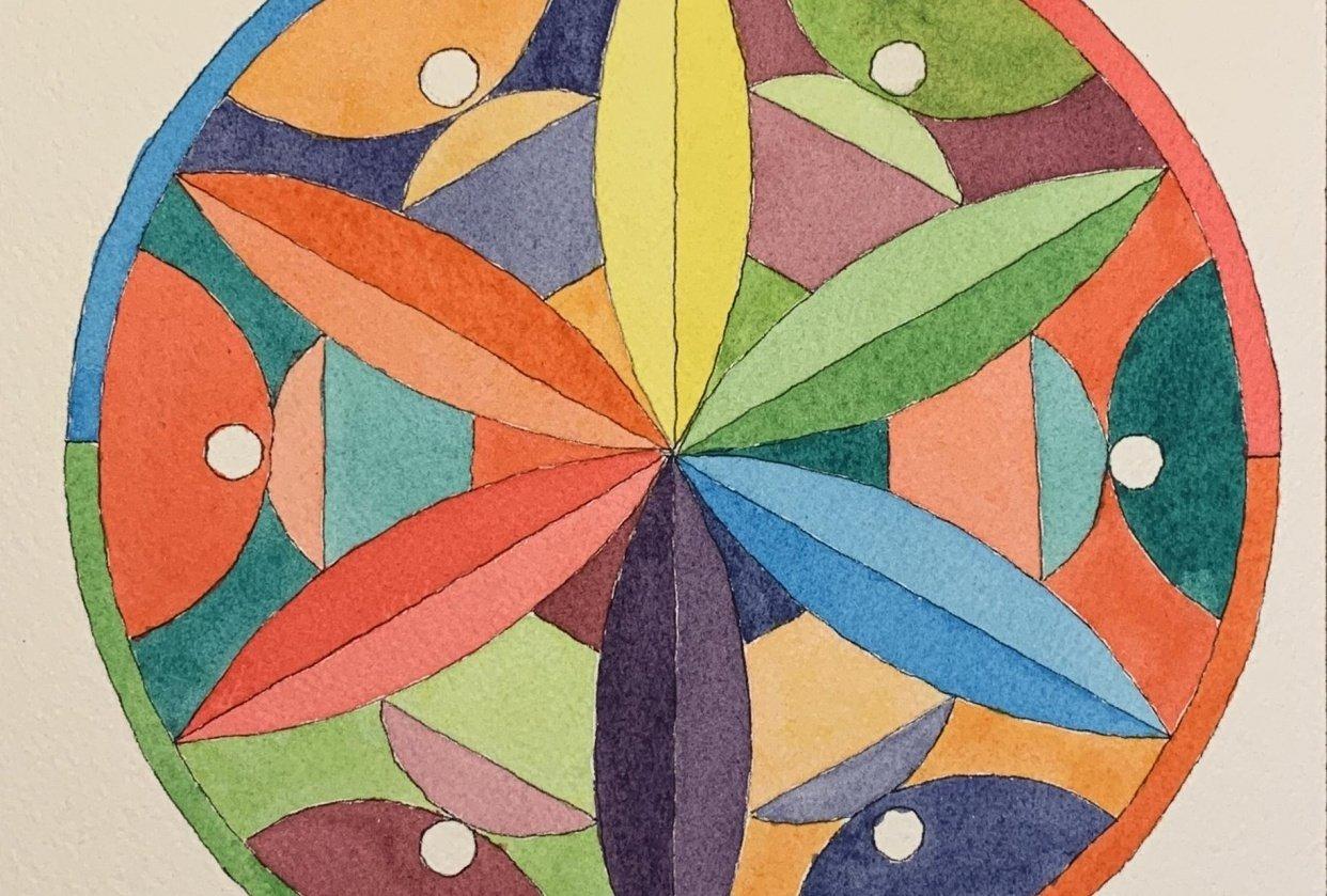 Flower Petal Mandalas - student project