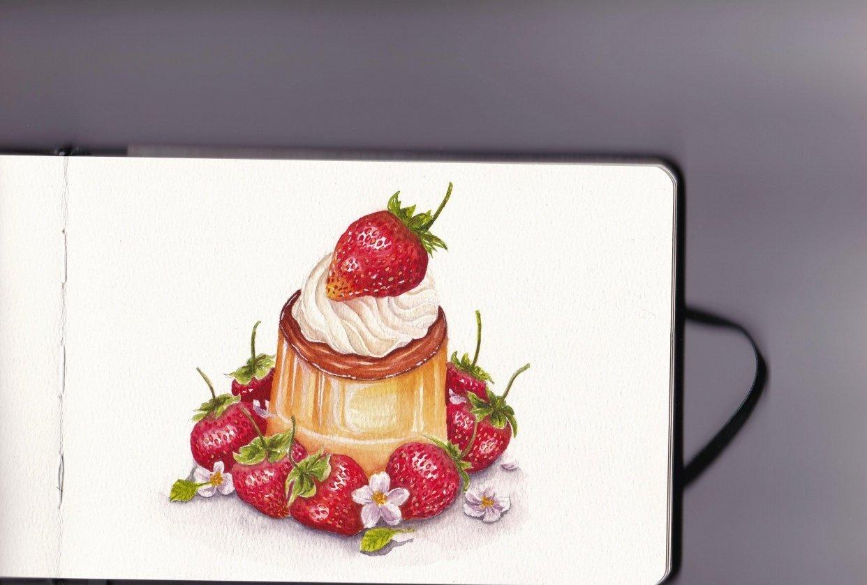 3rd strawberry dessert - student project