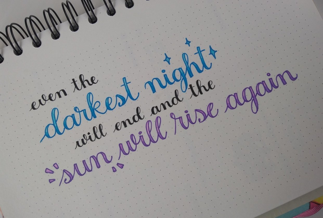 Faux calligraphy - Yainea - student project
