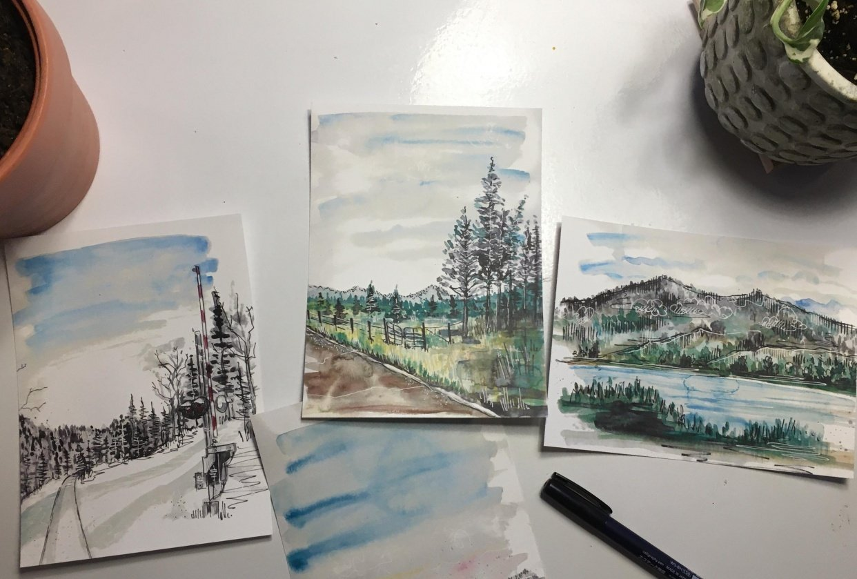 Sweet Montana Postcards - student project