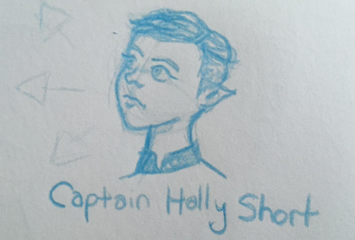 Captain Holly Short Character Sketch - student project