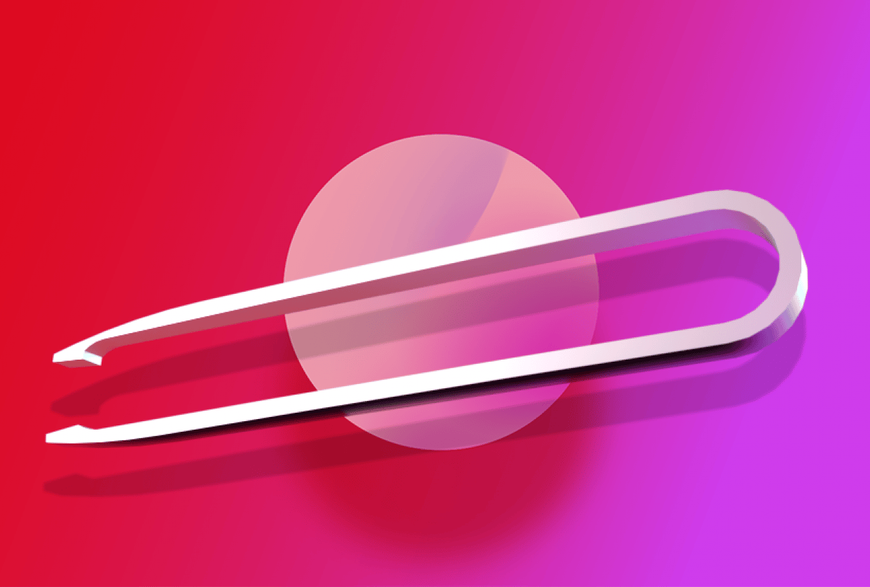 tweezers with backgrounds - student project