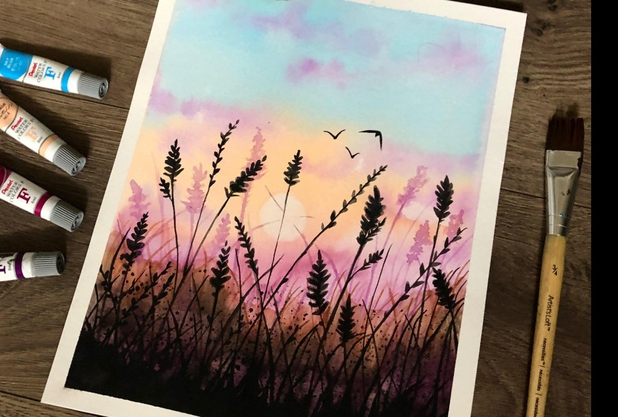This is my first ever #100dayproject with watercolors - student project