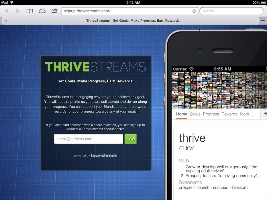 ThriveStreams - student project