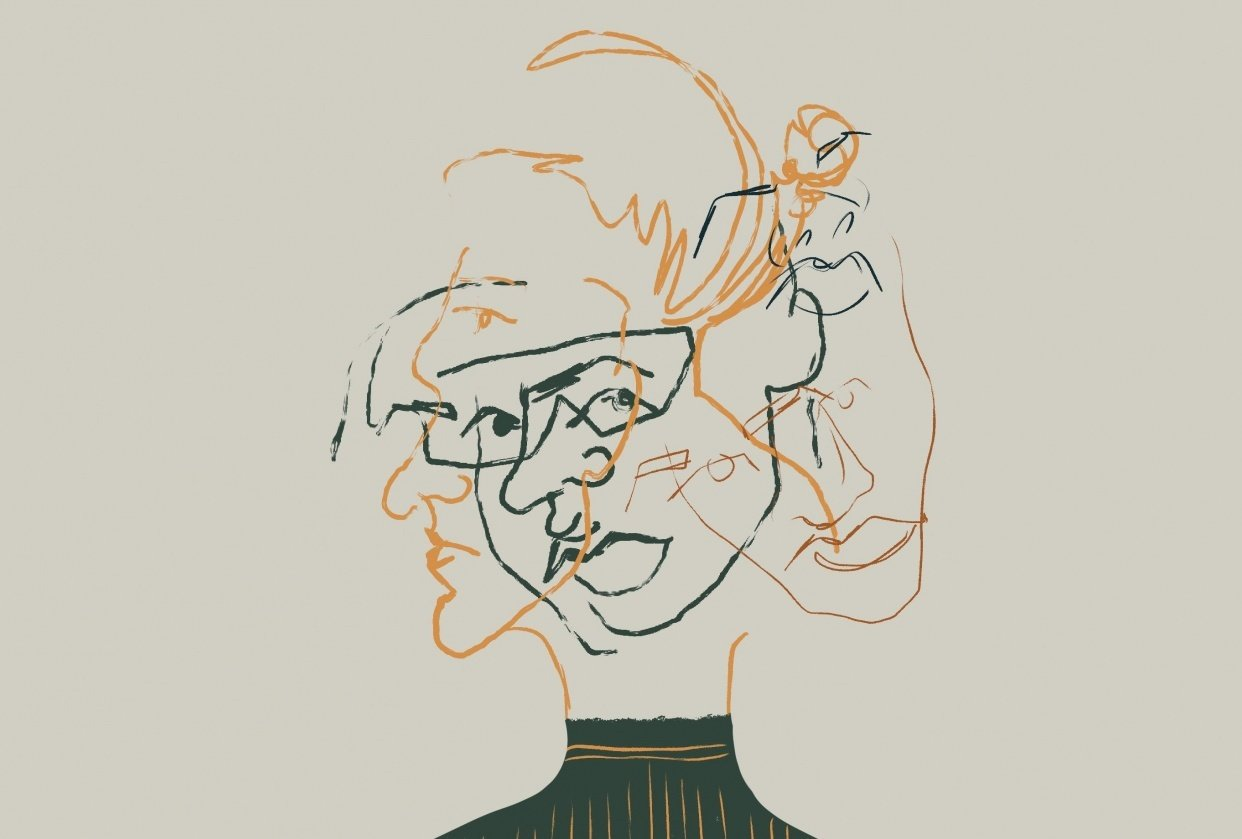 Intuitive illustration - selfportrait - student project