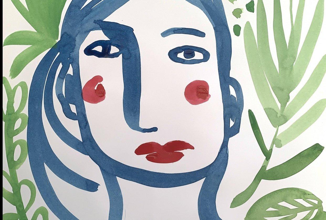 Intuitive Self Portrait - student project