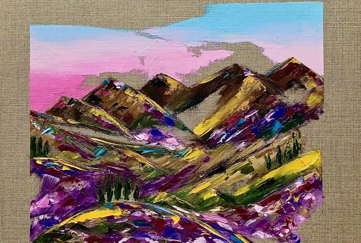 Vibrant Landscape Oil Painting - student project