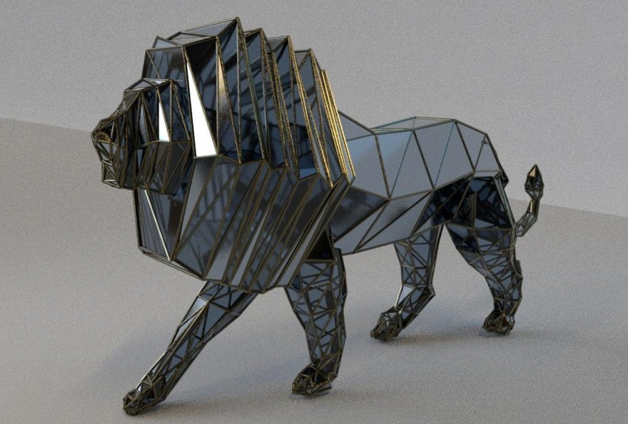 LOW-POLY LION - student project