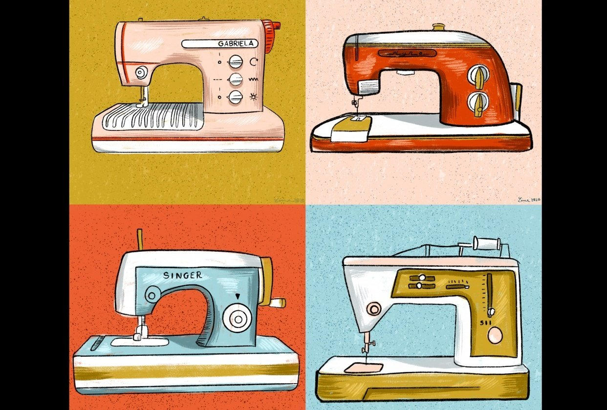Vintage sewing machines collection - student project