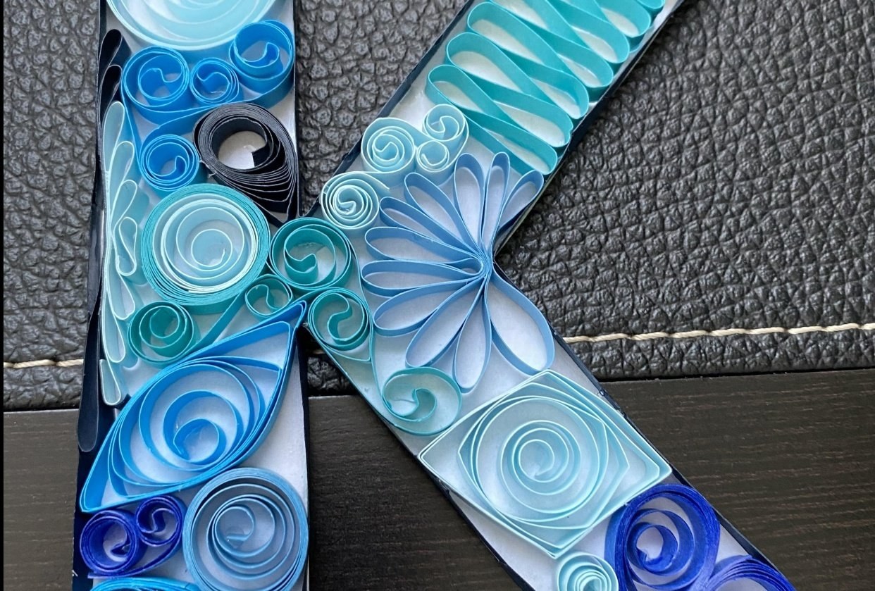 Quilled K - student project