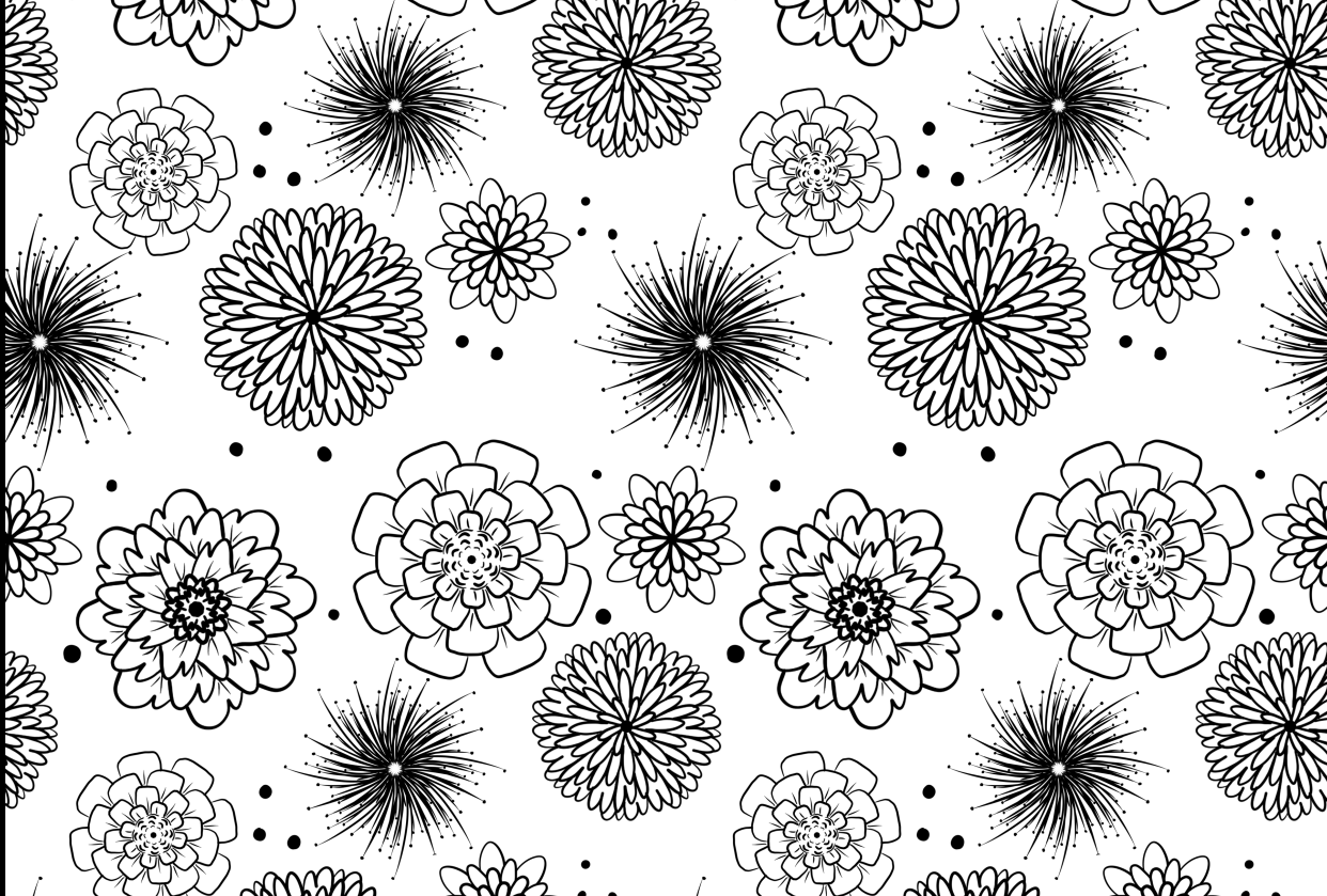 Seamless Flower Pattern - student project