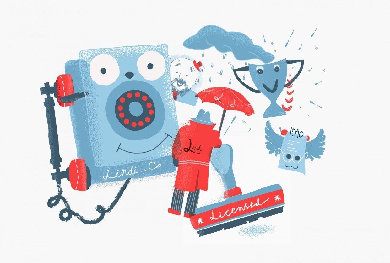 Lindi Tax Website illustration - student project