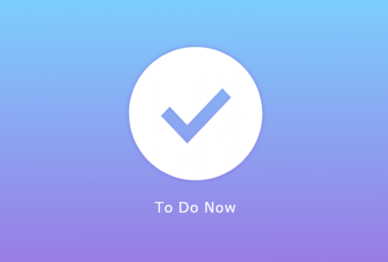 To Do Now - student project