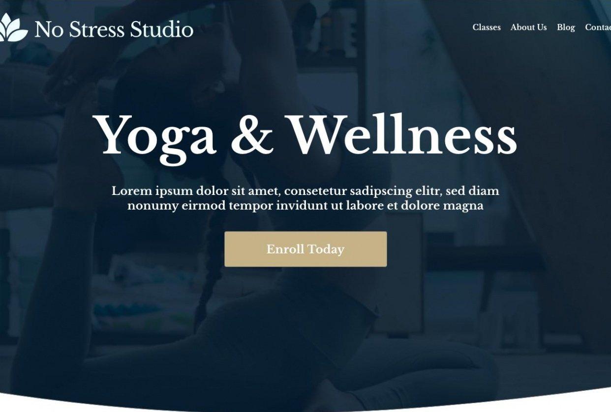 No Stress Studio - student project