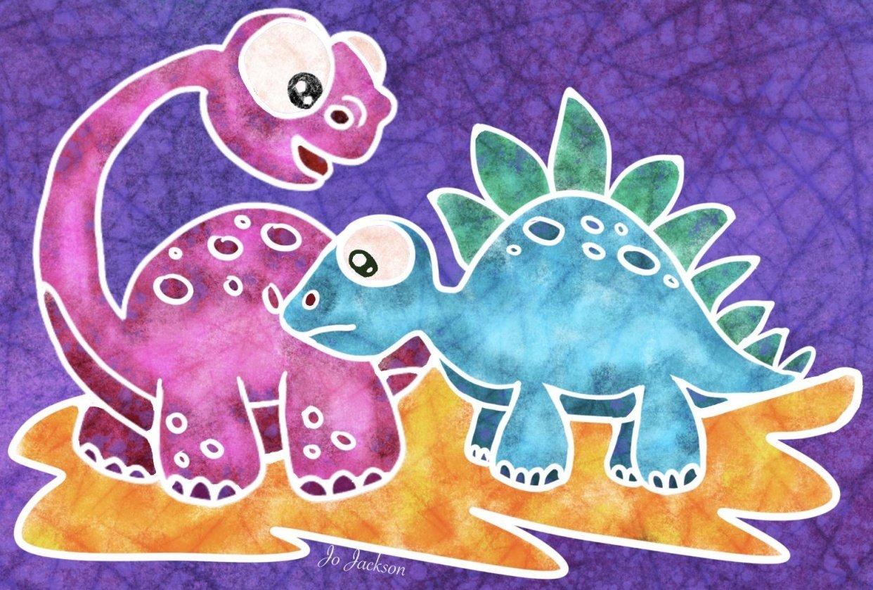 Batik Dinosaurs - student project